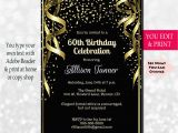 60th Birthday Invitations Templates 60th Birthday Invitation 60th Birthday Party Invitation 60th