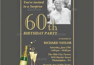 60th Birthday Invitations Templates Surprise Party Invitation Template