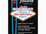 60th Birthday Invitations Uk Las Vegas 60th Birthday Party Invitation 13 Cm X 18 Cm