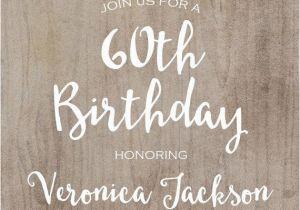 60th Birthday Invite Ideas Invitation Printable Rustic By