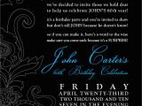 60th Birthday Invite Wording Black and White Party Invitations Party Invitations