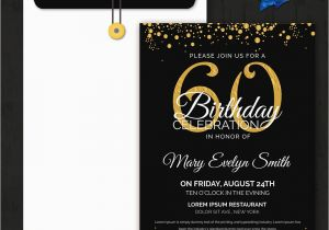 60th Birthday Invites Free Template Invitation 32 Word Pdf Psd Ai
