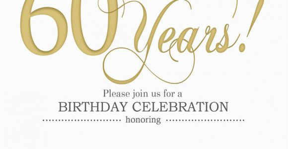 60th Birthday Invites Free Template Printable Invitation Templates