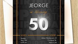 60th Birthday Party Invitations for Him 50th Dad Birthday Party Invitation Daddy 21st 40th 60th