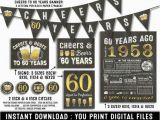 60th Birthday Party Invitations for Him 60th Birthday Party Decorations 60th Birthday Party for