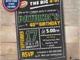 60th Birthday Party Invitations for Him Mens Birthday Invitation Football Party Invite 40th