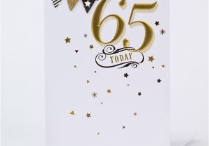 65th Birthday Cards Free Card Gold Bunting Only 99p