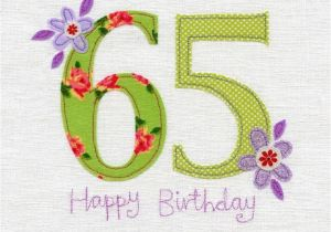65th Birthday Cards Free Hand Finished Card Karenza Paperie