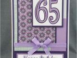 65th Birthday Cards Free Handmade Purple 65th Birthday Card