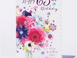 65th Birthday Flowers 65th Birthday Card Bunch Of Flowers Only 99p