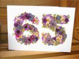 65th Birthday Flowers 65th Birthday Card Wife 65th Birthday Husband 65th Birthday