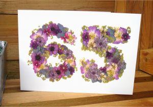 65th Birthday Flowers Card Wife Husband