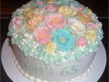 65th Birthday Flowers 65th Birthday Flower Cake 2 Cake Decorating Community