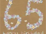 65th Birthday Flowers Floral 65th Happy Birthday Card Karenza Paperie