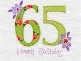 65th Birthday Flowers Hand Finished 65th Birthday Card Karenza Paperie