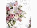 65th Birthday Flowers Happy 65th Birthday Card Purple Flower Design Ebay
