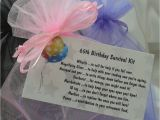 65th Birthday Gifts for Her Little Bag Of Bits 65th Survival Kit Female by