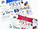 65th Birthday Gifts for Husband 65th Birthday 1954 Year Birthday Card Personalised Dad