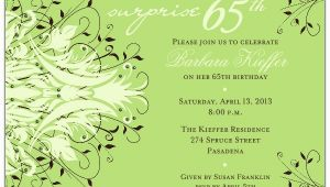 65th Birthday Invitation Wording andromeda Navy Surprise 65th Birthday Invitations Paperstyle