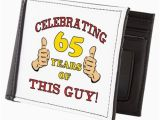 65th Birthday Presents for Him 65th Birthday Gift for Him Mens Wallet by Birthdayhumor1