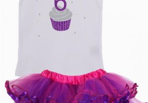 6th Birthday Girl Outfits Girls 6th Birthday Outfit Birthday Cupcake by Bubblegumdivas