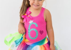6th Birthday Girl Outfits Girls 6th Birthday Shirt 6th Birthday Party Hot Pink Birthday