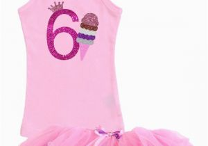 6th Birthday Girl Outfits Ice Cream Cone 6th Birthday Outfit Vanilla by Bubblegumdivas