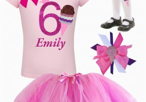 6th Birthday Girl Outfits Ice Cream Shirt 6th Birthday Outfit Girl Pink Tutu Skirt Ice
