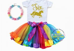 6th Birthday Girl Outfits Sixth Birthday Outfit Girl Unicorn Birthday Outfit 6th