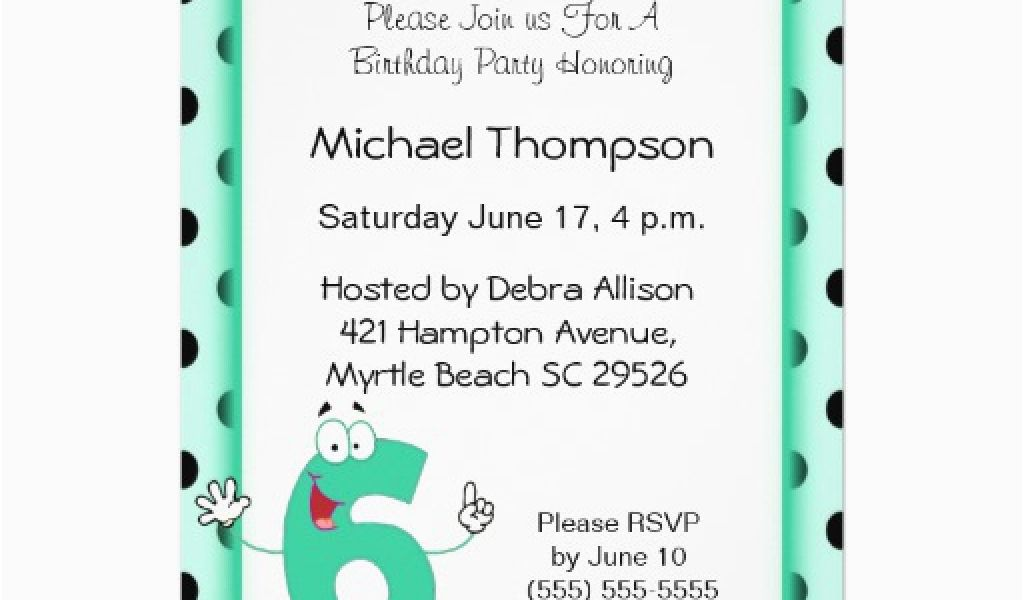 Download By SizeHandphone Tablet Desktop Original Size Back To 6th Birthday Party Invitation Wording
