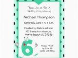 6th Birthday Party Invitation Wording 6th Birthday Party Invitations 5 Quot X 7 Quot Invitation Card