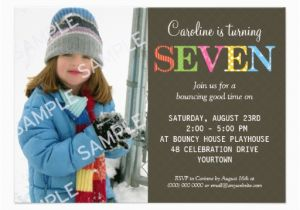 7 Year Old Birthday Invitation Wording 7th Party Free