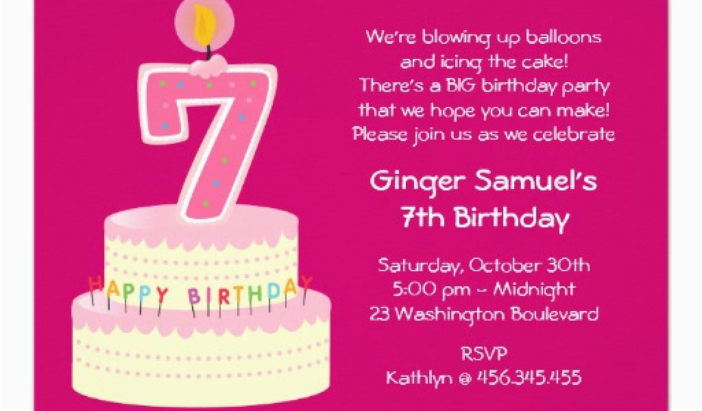 Download By SizeHandphone Tablet Desktop Original Size Back To 7 Year Old Birthday Invitation Wording