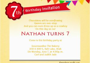 7 Year Old Birthday Invitation Wording Girls 7th Program Just B Cause