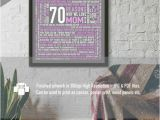 70 Birthday Gifts for Her 70 Reasons We Love Mom 70th Birthday Gift for Her for