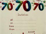70 Birthday Invitation Template 15 70th Birthday Invitations Design and theme Ideas