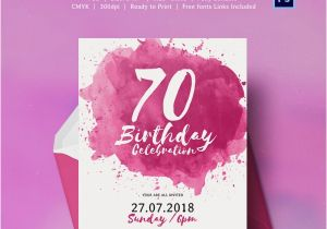 70 Birthday Invitation Template Free Psd Format