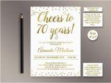 70 Birthday Invitation Template Editable 70th Birthday Party Invitation Template Cheers to 70