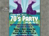 70 Birthday Invitation Wording 70s Party Invitations Nifty Printables
