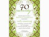 70 Birthday Invitation Wording Birthday 70 Lime Chocolate Scalloped Dot Invitations