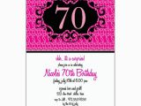 70 Birthday Invitation Wording Milestone 70 Pink Floral Birthday Invitations Paperstyle