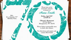 70 Birthday Invites 70th Birthday Invitation Templates 70th Bir