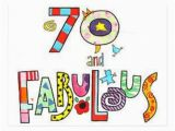 70 Year Old Birthday Cards 70 Years Old Fabulous Birthday Postcard Zazzle