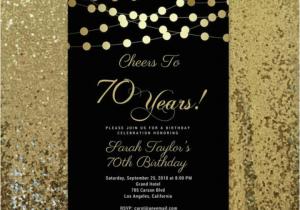 70 Year Old Birthday Invitations 15 Golden Card Templates Free Premium