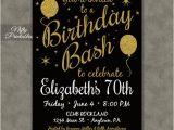 70 Year Old Birthday Invitations 70th Birthday Invitations Printable 70 Black by