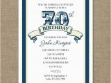 70 Year Old Birthday Invitations Party For On Colors Th