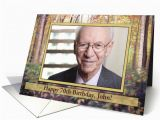 70th Birthday Cards for Him Happy 70th Birthday Autumn In the Woods Customizable for