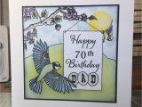 70th Birthday Cards for Him Lynne 39 S Crafty Little Blog My Dad 39 S 70th Birthday Card