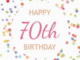 70th Birthday Cards to Print 70th Birthday Confetti Free Birthday Card Greetings island