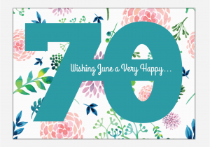 70th Birthday Cards To Print Personalized Watercolor Postcards Printable For